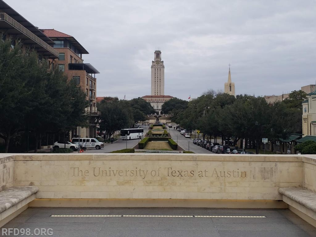Looking to the University of Texas Tower from the Conference Center