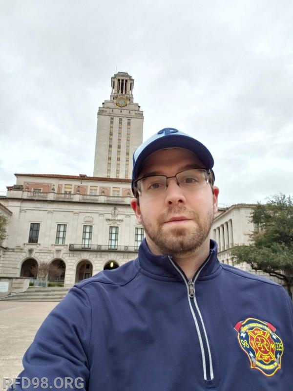 EMS Supervisor Lenny Brown representing RFD on the UT campus