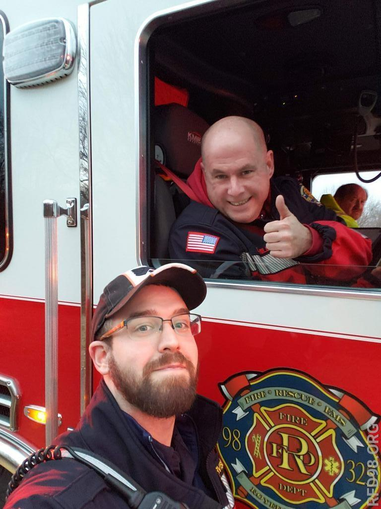 Public Information Officers Dan Miller & Lenny Brown grabbing a quick selfie while on the first incident.