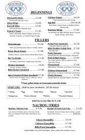 Page 1 of our brand new bar menu!