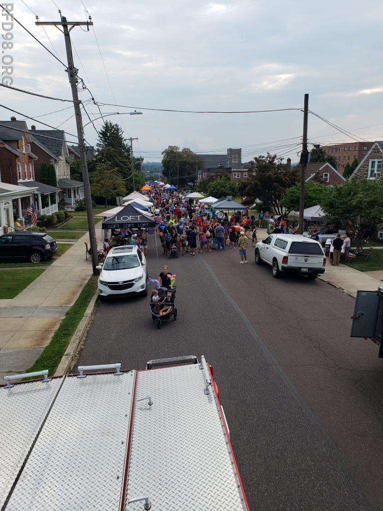 A great shot of the Royersford National Night Out crowd