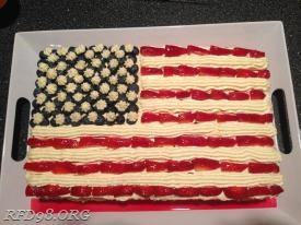 Annual 4th of July Cake! Thanks Kathleen Mullen for the best cake around!!!