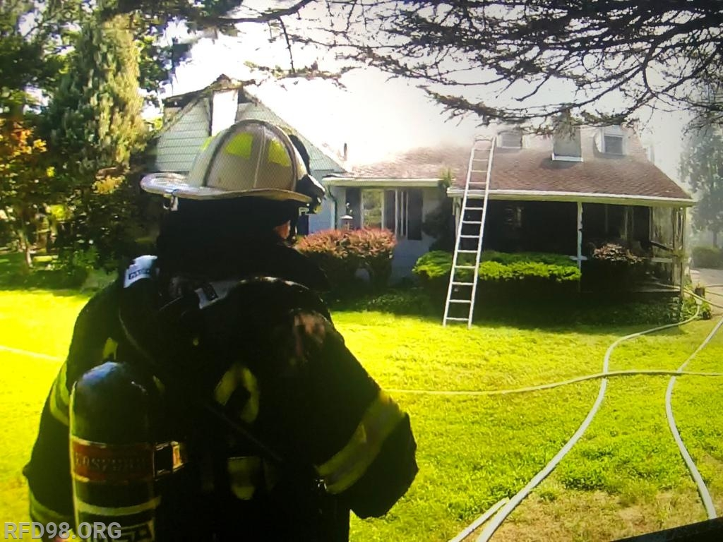 AC98 (Chell) overlooking the dwelling during operations