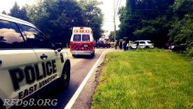 MICU 83-2 onscene with East Vincent Township Police and Ridge Fire Company.