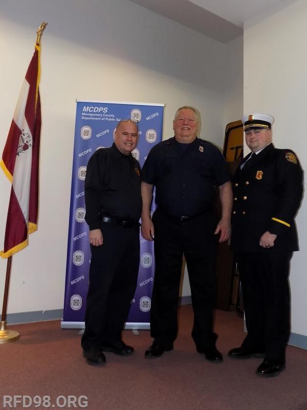From Left to Right: Firefighter Dan Miller, Firefighter John Webster, Lieutenant Elliott Guffey