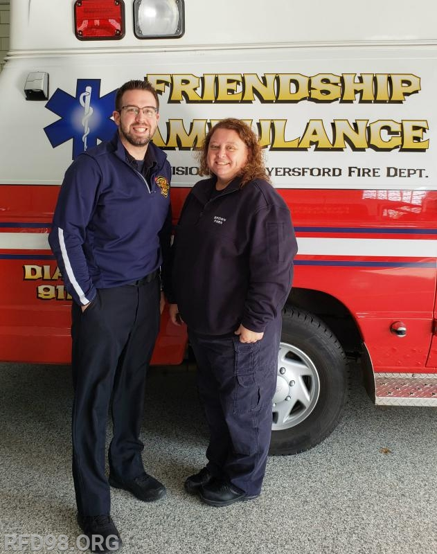 Pictured is EMS Supervisor Lenny Brown & PHRN Holly Brown
